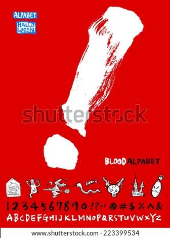 Number and alphabet / Halloween Version - stock vector