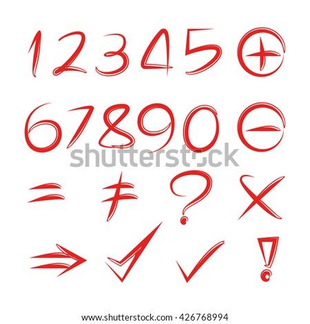 number and math signs
