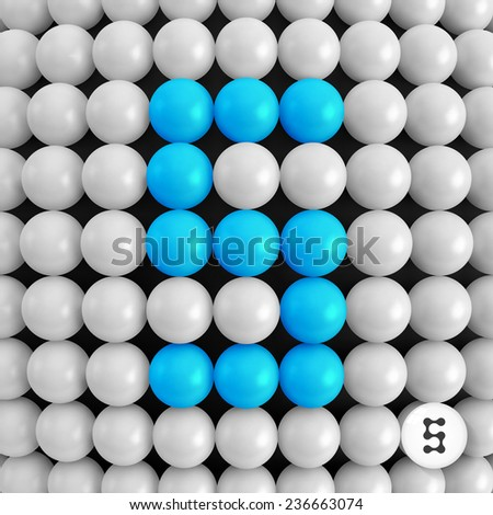 Number five. Abstract mathematics background. 3d vector illustration. - stock vector