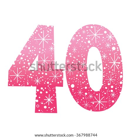 number forty - stock vector