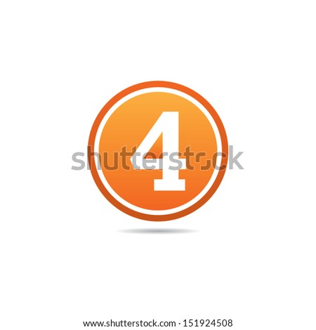 Number Four Icon - stock vector