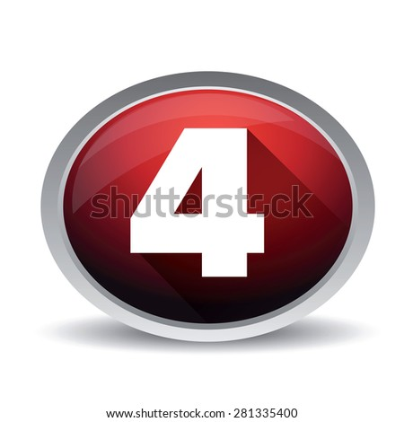 Number four vector button