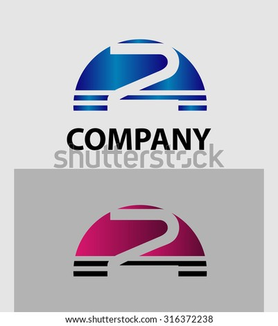 Number 2 logo. Vector logotype design