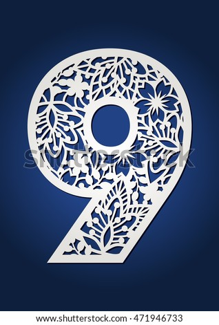 Number 9 stock images royalty free images vectors for Blueprint number