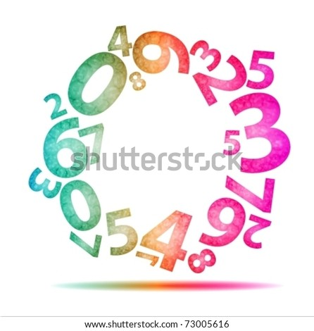 number of background - stock vector