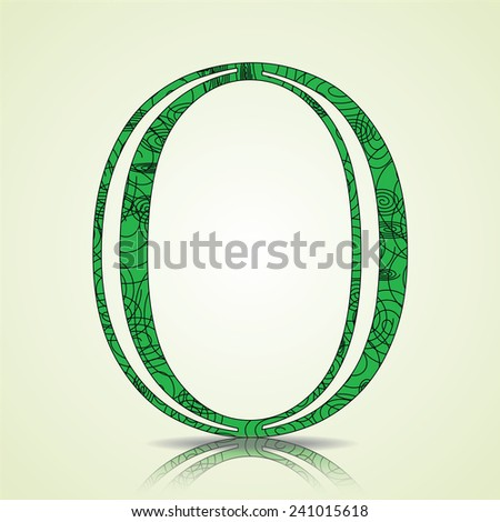 Number of Collection made of swirls - 0 Vector illustration - stock vector