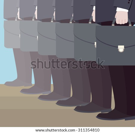 Number of managers (vector illustration, flat concept) - stock vector