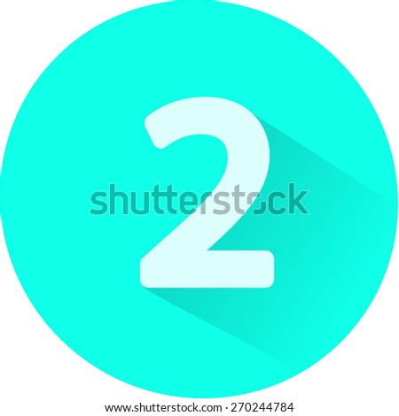 Number 2 on white background. Vector illustration - stock vector
