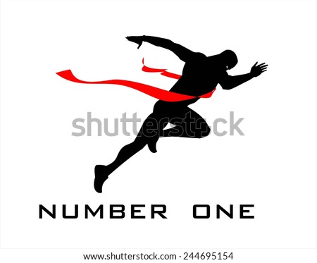 number one, finish line, winner. - stock vector