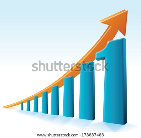 Number One Graph - stock vector