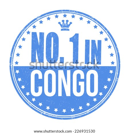 Number one in Congo grunge rubber stamp on white background, vector illustration - stock vector