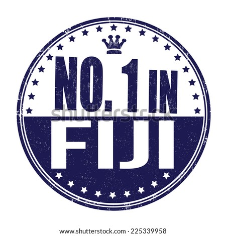 Number one in Fiji grunge rubber stamp on white background, vector illustration - stock vector