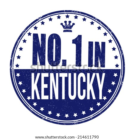 Number one in Kentucky grunge rubber stamp on white background, vector illustration - stock vector