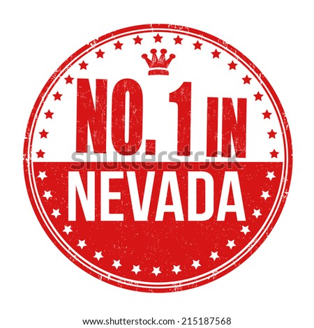 Number one in Nevada grunge rubber stamp on white background, vector illustration - stock vector