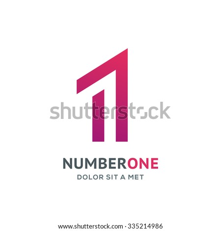 number one 1 logo icon design arkistovektori 335214986 shutterstock