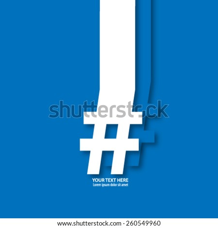 Number Sign/Hash Tag Icon Background - stock vector