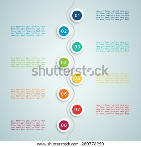 Number Steps Inforgraphic 5 - stock vector