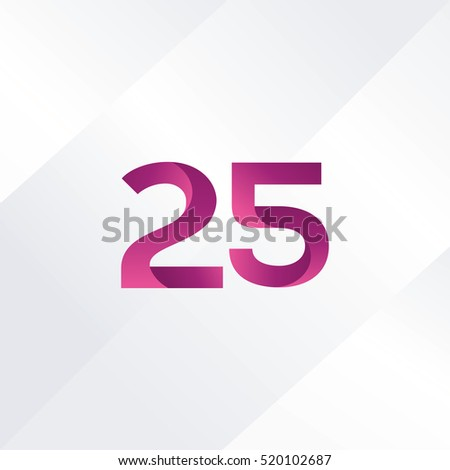 Number twenty five 25 Logo, Digit 25 Icon