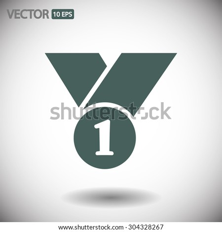 number 1 vector icon 10 EPS