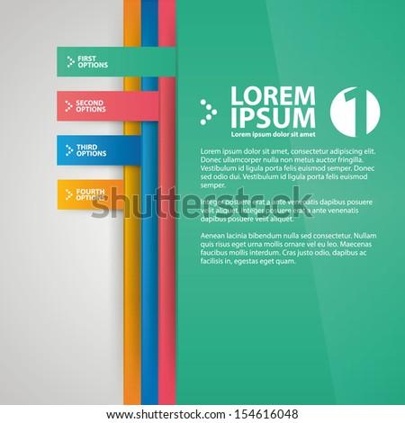 Numbered Brochure Design Template Stock Vector 154616048 ...