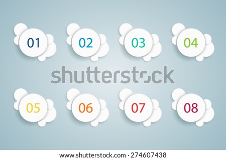 Numbered Bullet Point Bubble Info graphics 1  - stock vector