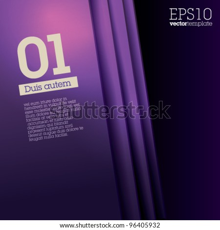 Numbered Design Template - Suitable for brochure design or website. Fully editable EPS 10 - stock vector