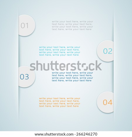Numbered Steps 7  - stock vector