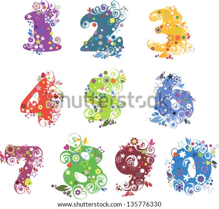 Numbers - stock vector