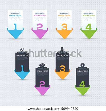 Numbers Banner Vector Template, Multicolored Web Pricing Tables Design