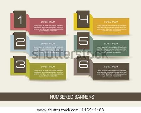 numbers brochure vintage over beige background. vector - stock vector