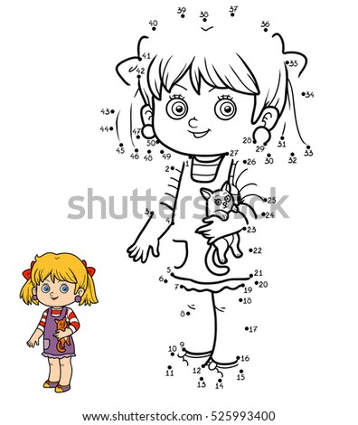 Vector Illustration Dot Dot Educational Puzzle Stock Vector ...