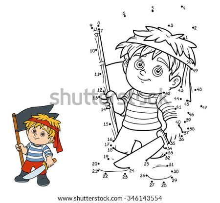 Pirate+games on Stock Illustration Pirates Treasure Maze Kids Box Game Children