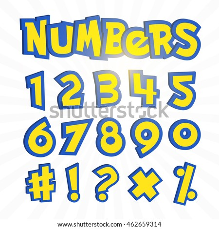 Pokemon Font Numbers Images