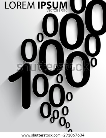 numbers one and zero abstract business elements eps10 vector - stock vector