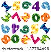 numbers pattern - stock vector