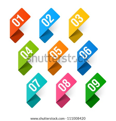 Numbers set. Vector. - stock vector