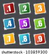 Numbers spamps set - stock vector