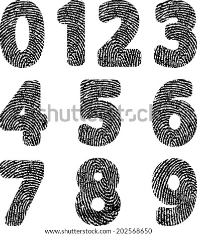numbers with fingerprint