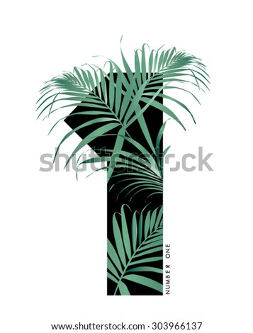 Numbers with tropical leaf in vector