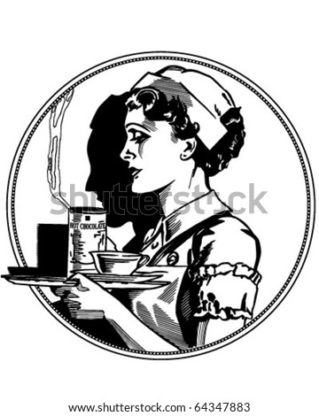 Nurse Icon - Retro Clipart Illustration