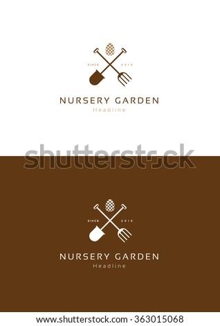 Nursery Garden Logo Template.