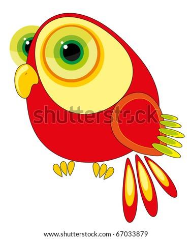nursery illustration - fun parrot - stock vector