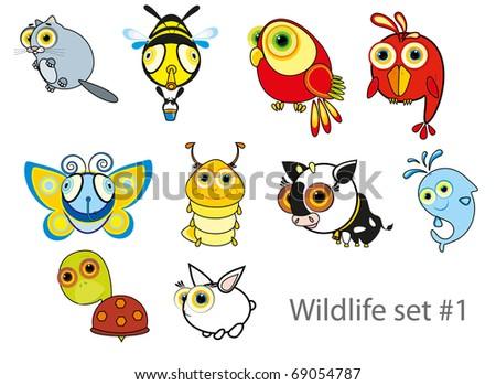 nursery illustration - fun rabbit - stock vector