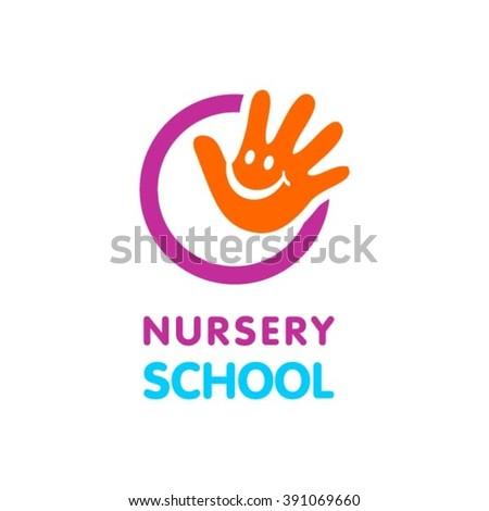 Nursery school logo - stock vector
