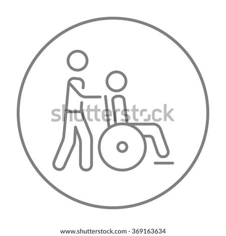 Nursing care line icon. - stock vector