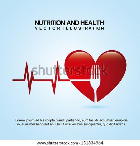 nutrition design over blue background vector illustration  - stock vector