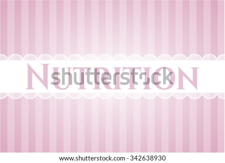 Nutrition retro style card or poster - stock vector