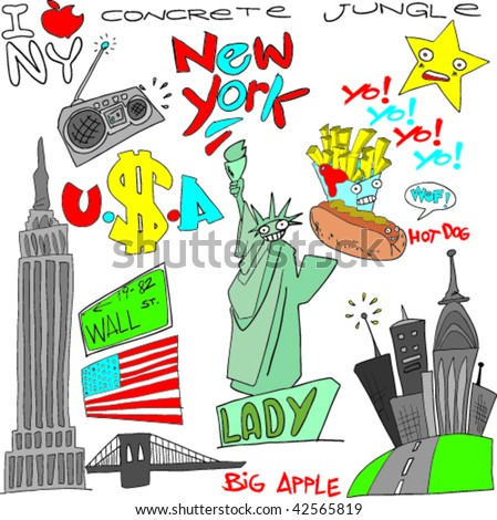 empire state building illustration stock photos images