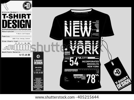 NYC / NEW YORK DISTRICT / Stock Vector Illustration: T-Shirt Design / Print Design - stock vector