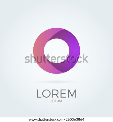 O Letter Abstract Vector Logo Design Template. Creative Typographic Concept Icon - stock vector